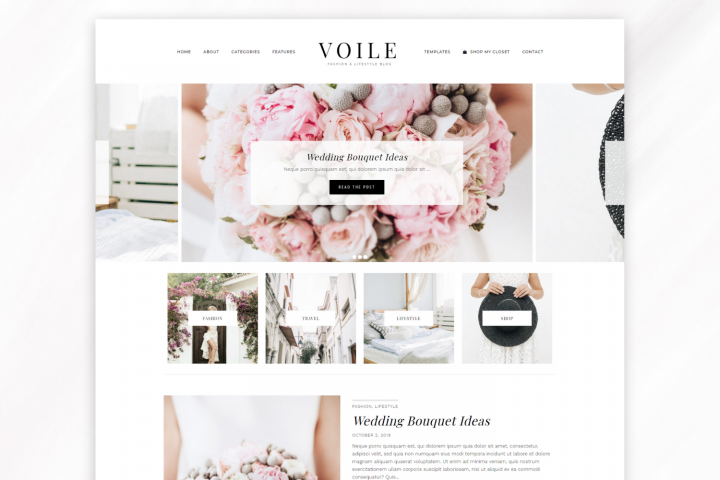 Responsive WordPress Theme for Blogs - Voile