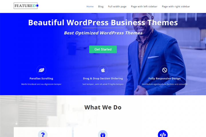 Featured - One page Business Theme
