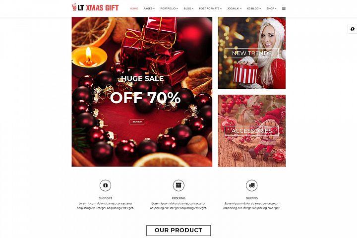 LT xMas Gift - Premium Responsive Joomla Gift Shop Template