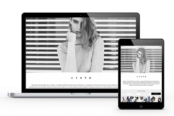 Social Stand Out Influencers Website Theme