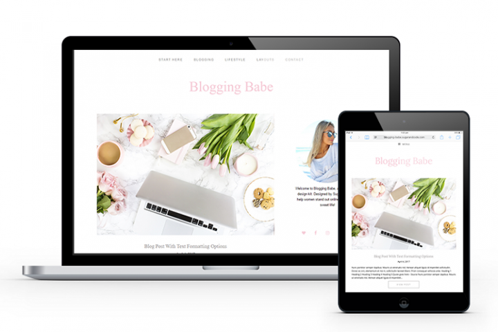 Blogging Babe Feminine WordPress Blog Theme