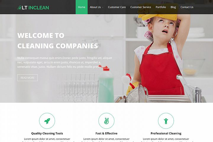 LT Inclean - Cleaning Company / Laundry WordPress Theme