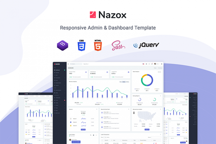 Nazox - Admin & Dashboard Template