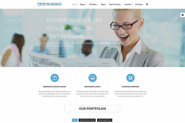 LT Pro Business - Premium Joomla Business Template