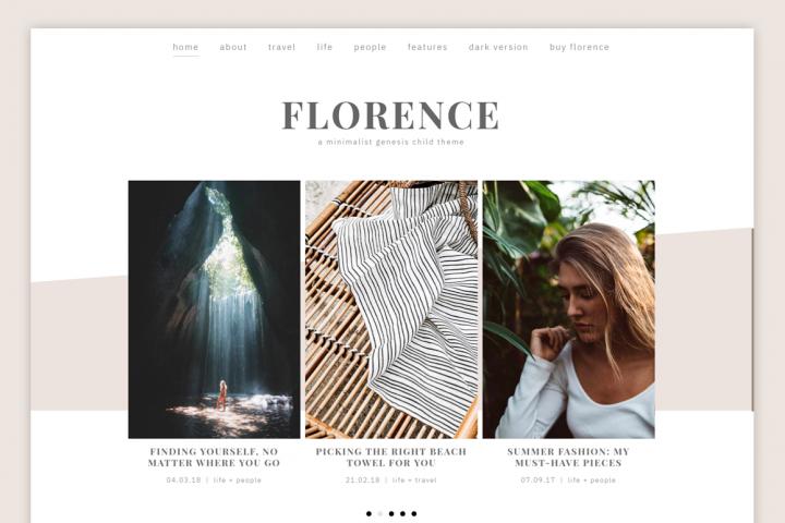Florence Theme // Genesis Child Theme