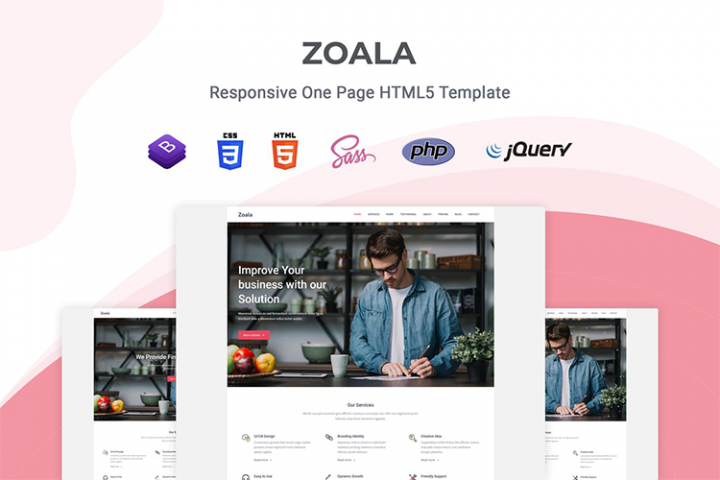 Zoala - One Page Template
