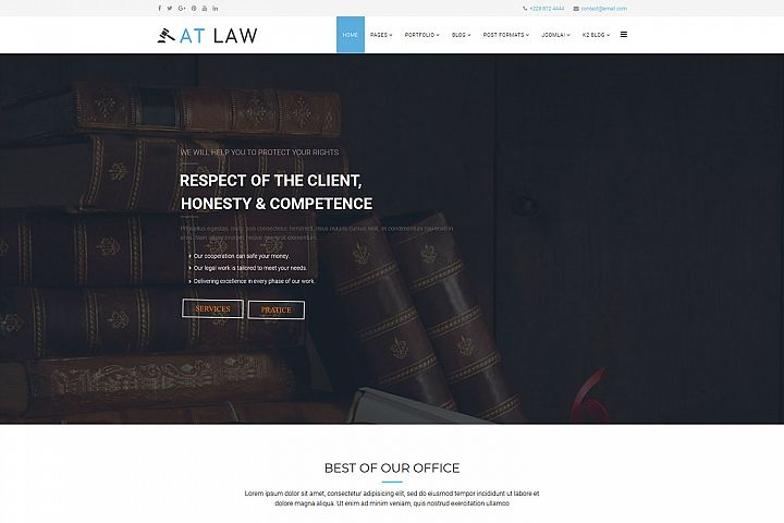 AT Law Attorneys Group Joomla template