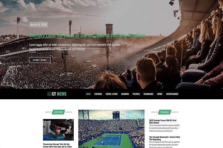 ET News Responsive News Portal WordPress theme