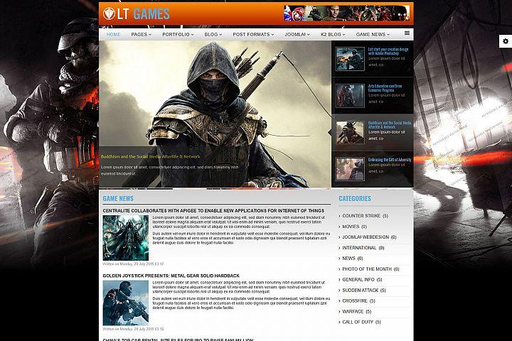 LT Games - Premium Responsive Joomla Gaming template