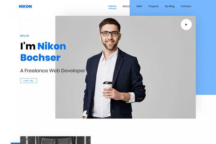 Nikon - Personal Portfolio HTML5 Template