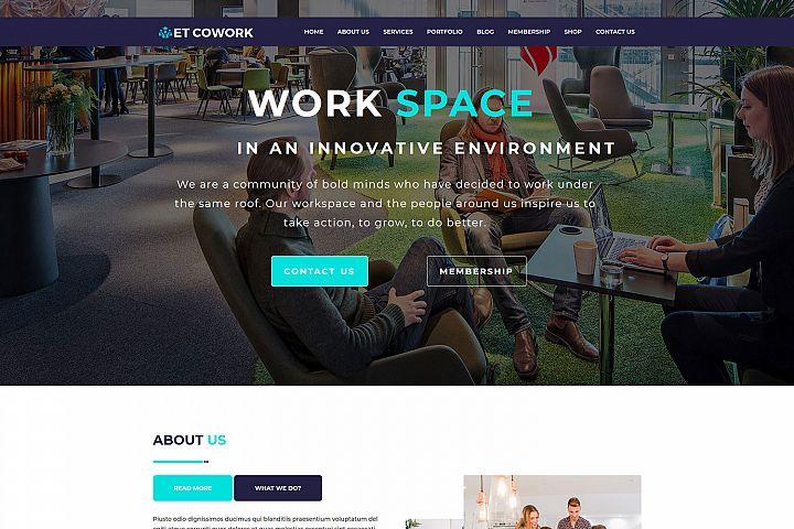ET Cowork Responsive WordPress coworking theme