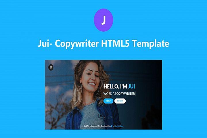 JUI Copywriter Portfolio HTML5 Template