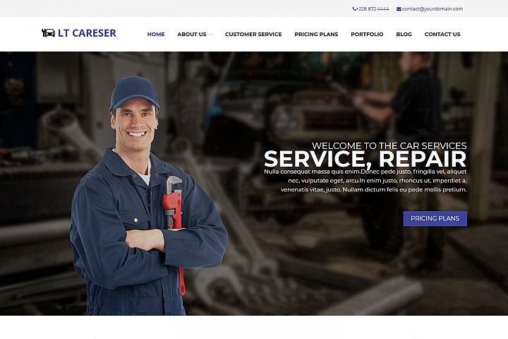 LT Careser - Premium Car Services / Repair WordPress Theme