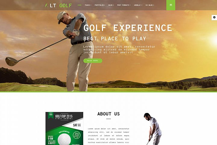 LT Golf - Responsive Premium Private Golf Joomla Template