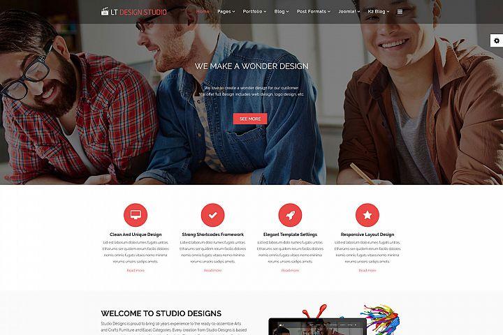 LT Design Studio - Premium Design Studio Joomla template