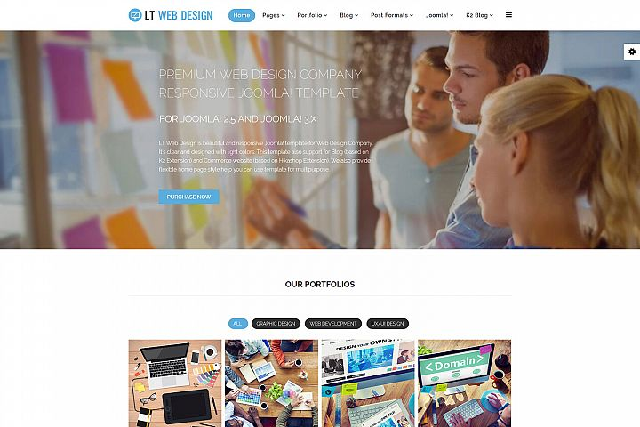 LT Web Design - Premium Web Design Joomla Template