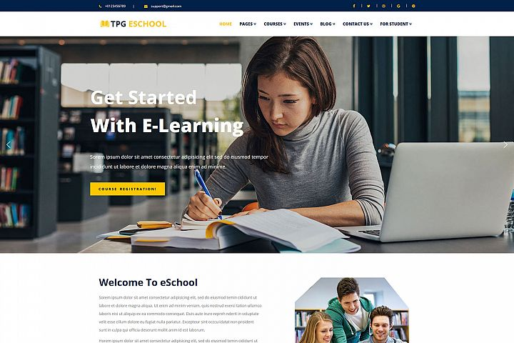 TPG eSchool Online school WordPress Theme