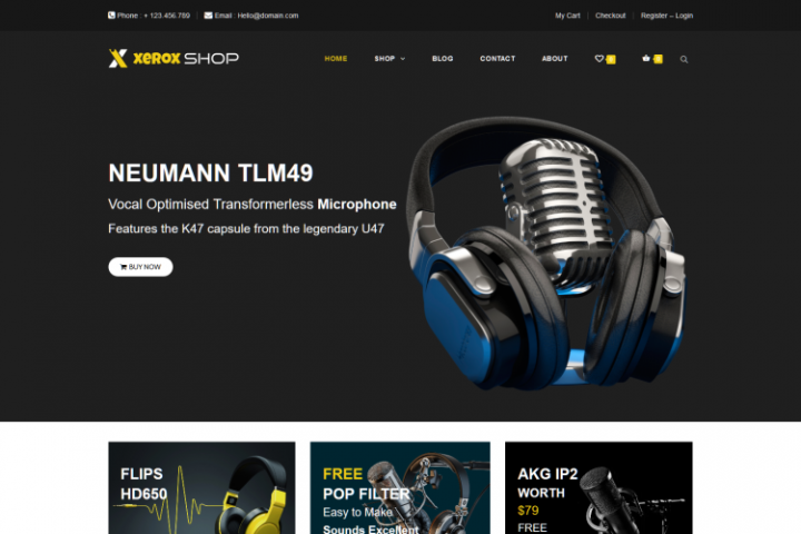 Xerox Shop - Audio Store WooCommerce WordPress Theme