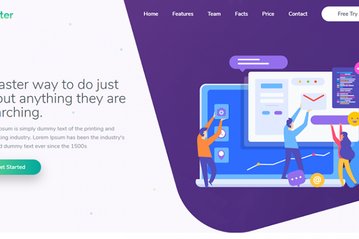 Kreater Creative Startup Landing Page Template