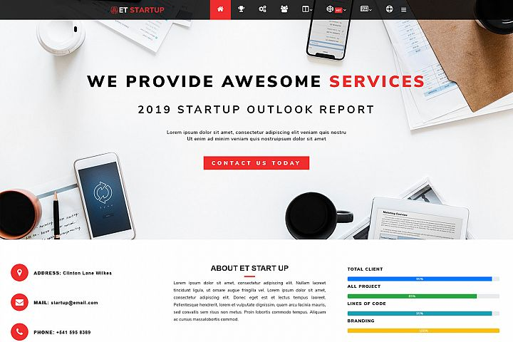ET Startup Responsive Business wordpress theme
