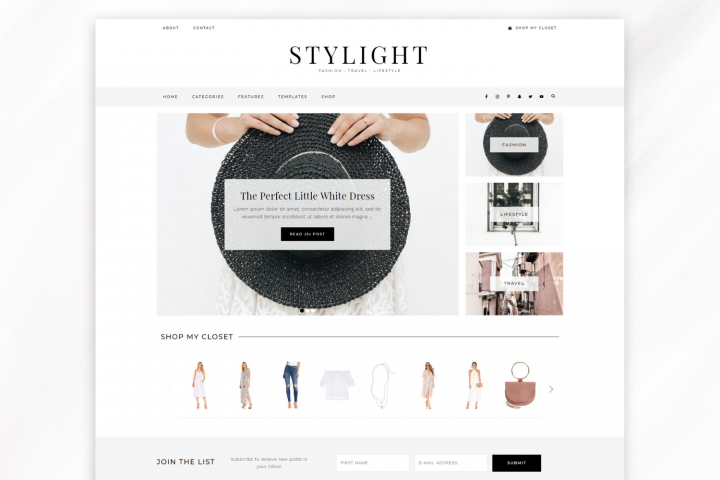 Responsive WordPress Theme for Blogs - Stylight