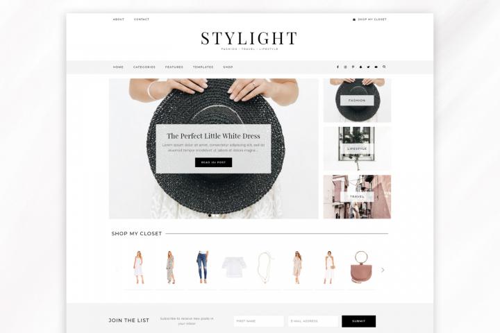 Responsive WordPress Theme for Blogs - Stylight