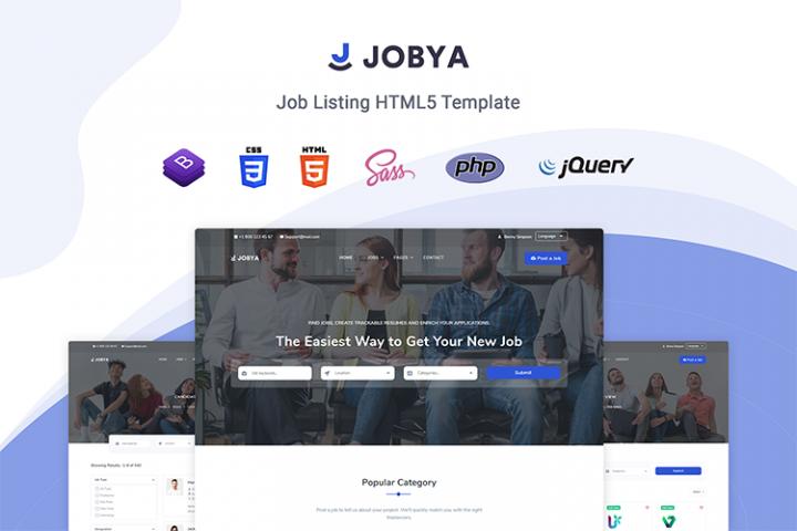 Jobya - Job Board & Job Listing HTML5 Template