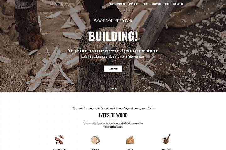 WS Wood Responsive Carpenter Wordpress theme