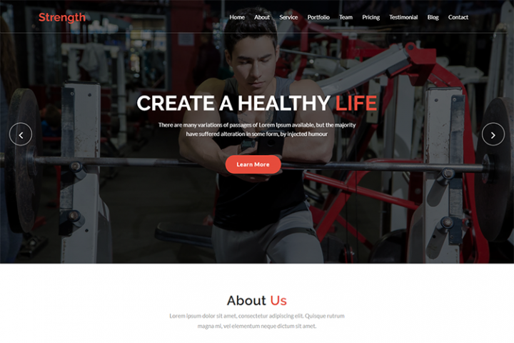 Strength - Digital Fitness Template