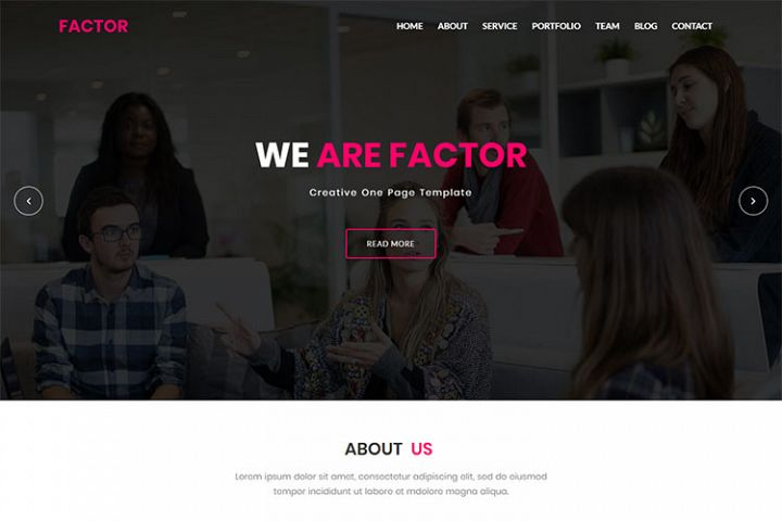 Factor - Material Design & Business HTML5 Template