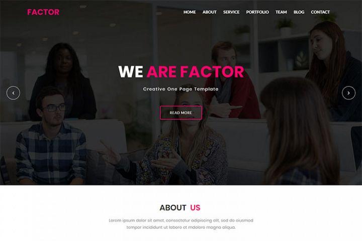 Factor - Material Design & Business HTML5 Template