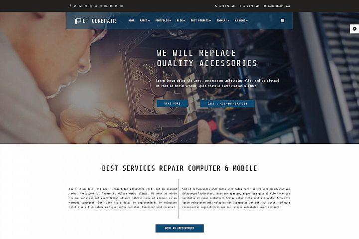 LT CoRepair - Private Computer Repair Joomla Template