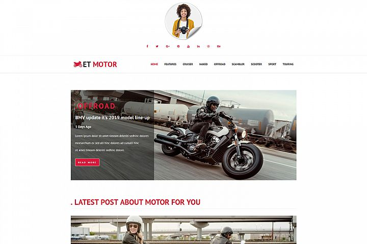 ET Motor Responsive WordPress Magazine website template