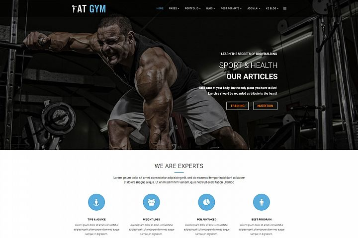 AT Gym Fitness Joomla template