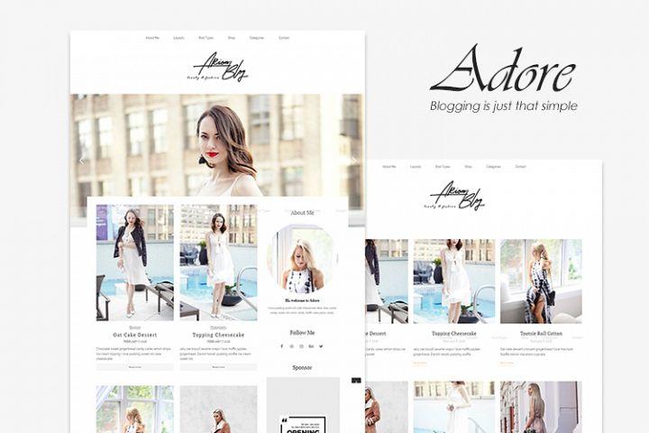 Adore - Beauty and Fashion WordPress Blog Theme
