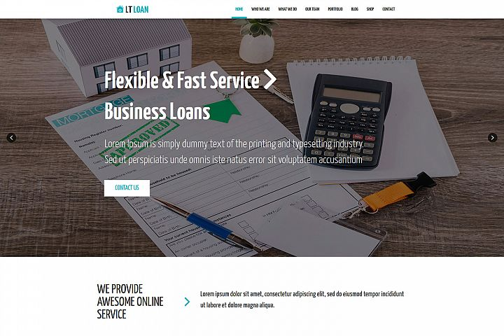 LT Loan - Premium Financial Services WordPress theme