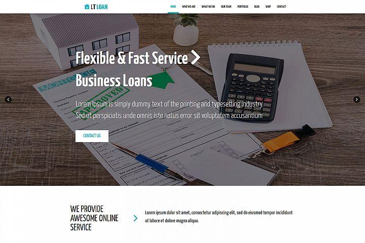 LT Loan - Premium Financial Services WordPress theme