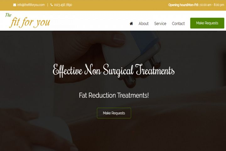 The Fit For You - Fitness Treatment Website Template