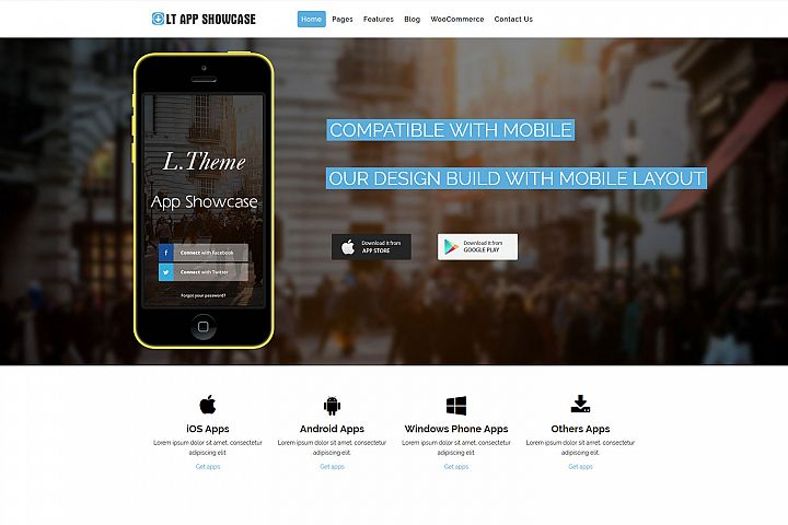 LT App Showcase - Application Showcase WordPress Theme