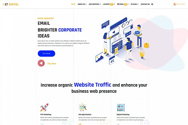 ET Digital Responsive Marketing Company website template