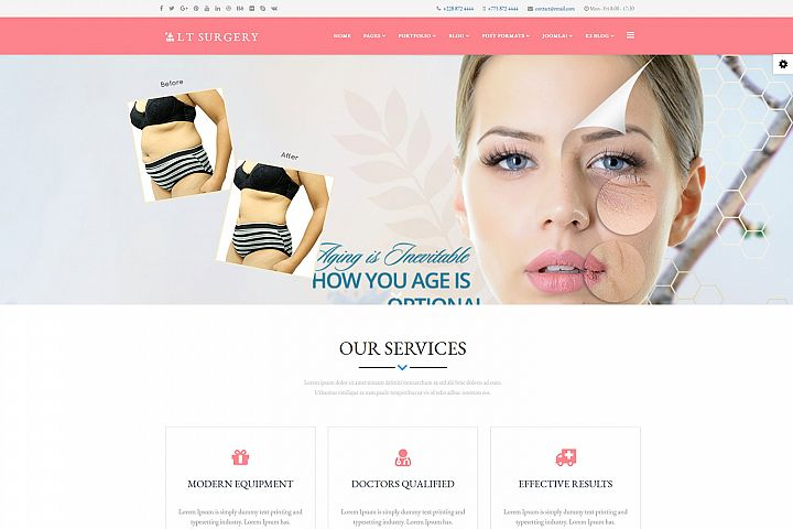 LT Surgery - Premium Joomla Plastic Surgery template