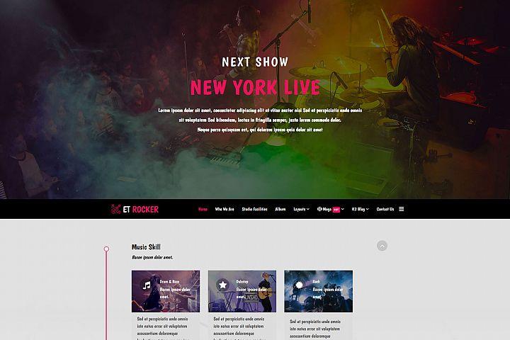ET Rocker Responsive Joomla Music template