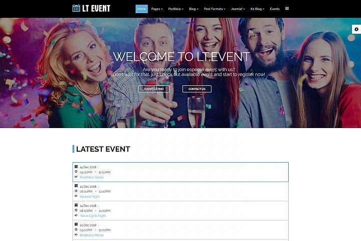 LT Event - Premium Responsive Joomla Event Template