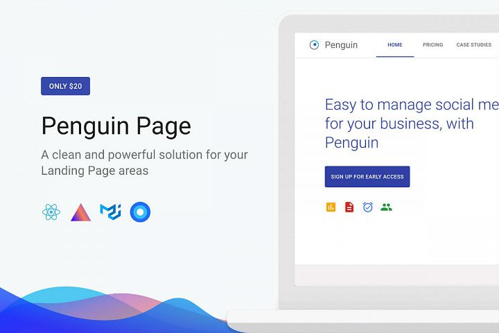 Penguin - React Next Landing Page
