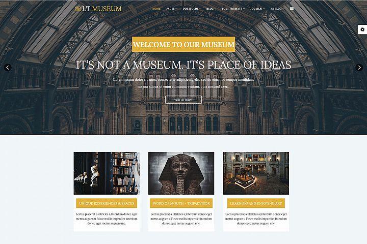 LT Museum - Premium Private Museum Joomla Template