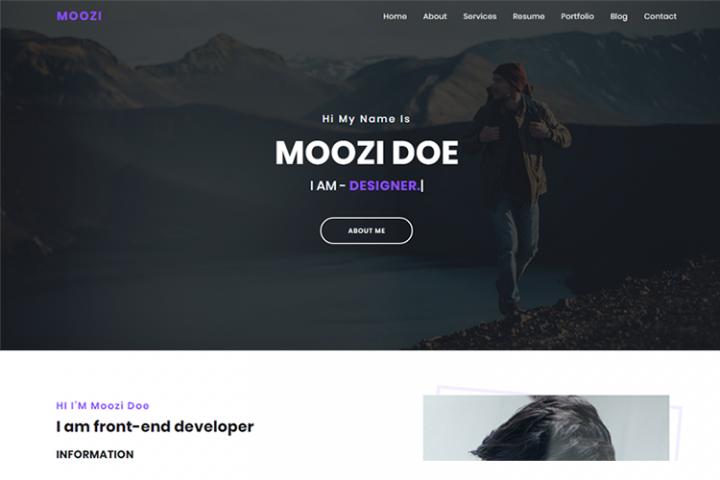 Moozi - Creative Portfolio Template