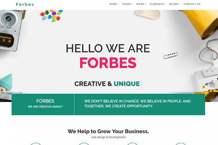 Forbes - Multipurpose HTML5 Website Template