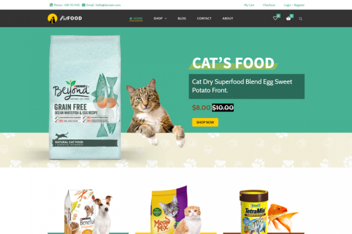 Pet Food - Creative WooCommerce theme for Pets and Vets