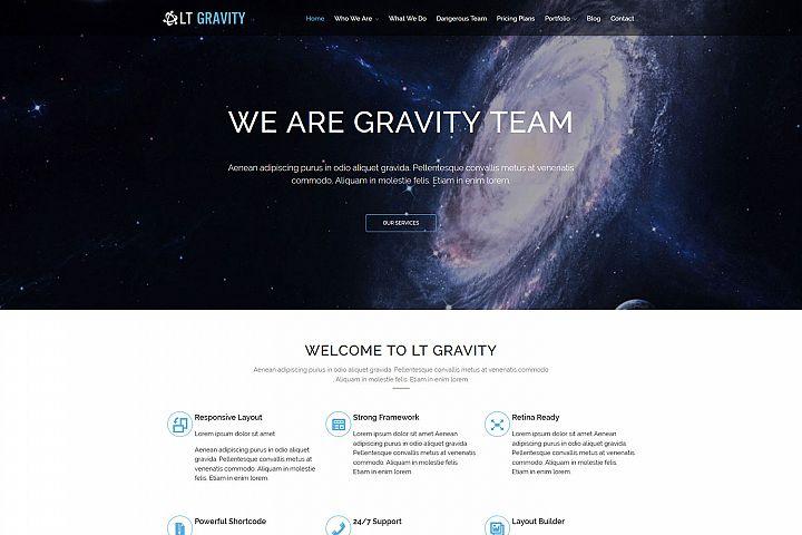 LT Gravity - Premium Universe / Planet WordPress Theme