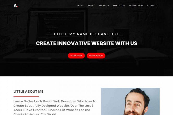 Alo - Personal Portfolio HTML Template
